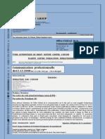 Plainte contre  l'OFCOM - Communication