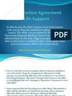 City Committee Agreement for Basic Life-Support