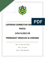 laporan maulidurrasul 2013