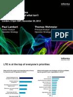 LTE Launch Strategies Webinar - 29th Nov 2012
