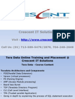 Tera Data Online Training and Placement @ Crescent IT Solutions