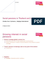 Social Pensions in Thailand and Beyond