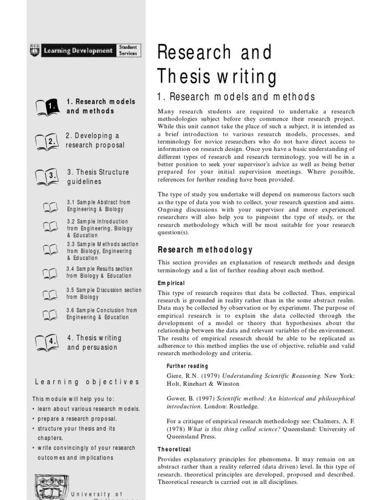 sample methodology section