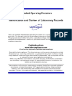 s 526 Control Laboratory Records Sample