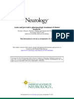 Acute and Preventive Pharmacologic Treatment of Cluster Headache