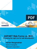 Web Forms vs Mvc