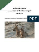 Moniteringsrapport over ulve i Lausitz-regionen, Østtyskland for 2009/2010