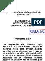Catálogo de Cursos de Formación y Actualización Docentes
