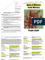 Youth Ministry Prayer Guide Template