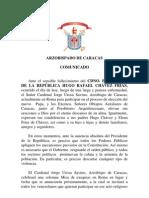 Comunicado Arzobispado de Caracas