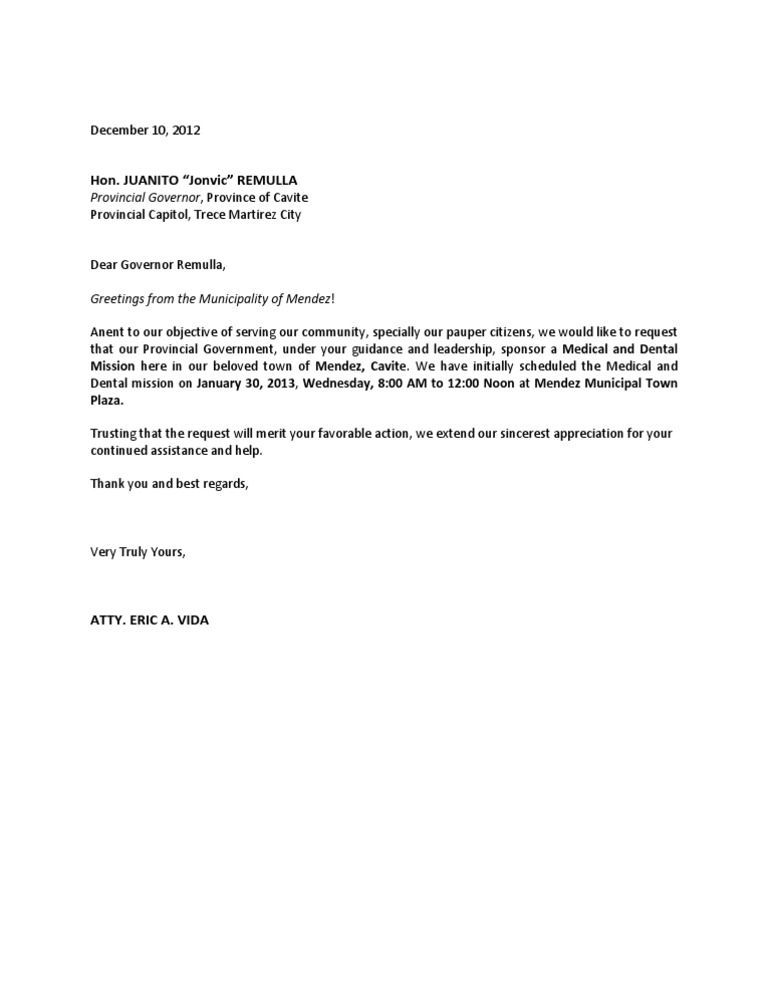 Delightful Sample Letter Request Financial Assistance Pcso Docoments Ojazlink