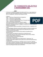 Bases Torneo Warhammer 40k. 06 de Abril