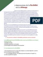 Analysez les répercussions de la flexibilité du travail sur le chômage