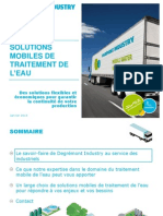 FR - Solutions mobiles de traitement de l'eau - Degrémont Industry