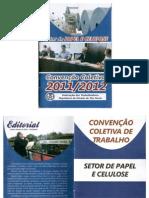 Convenção coletiva 2011-2012 Setor de Papel e Celulose