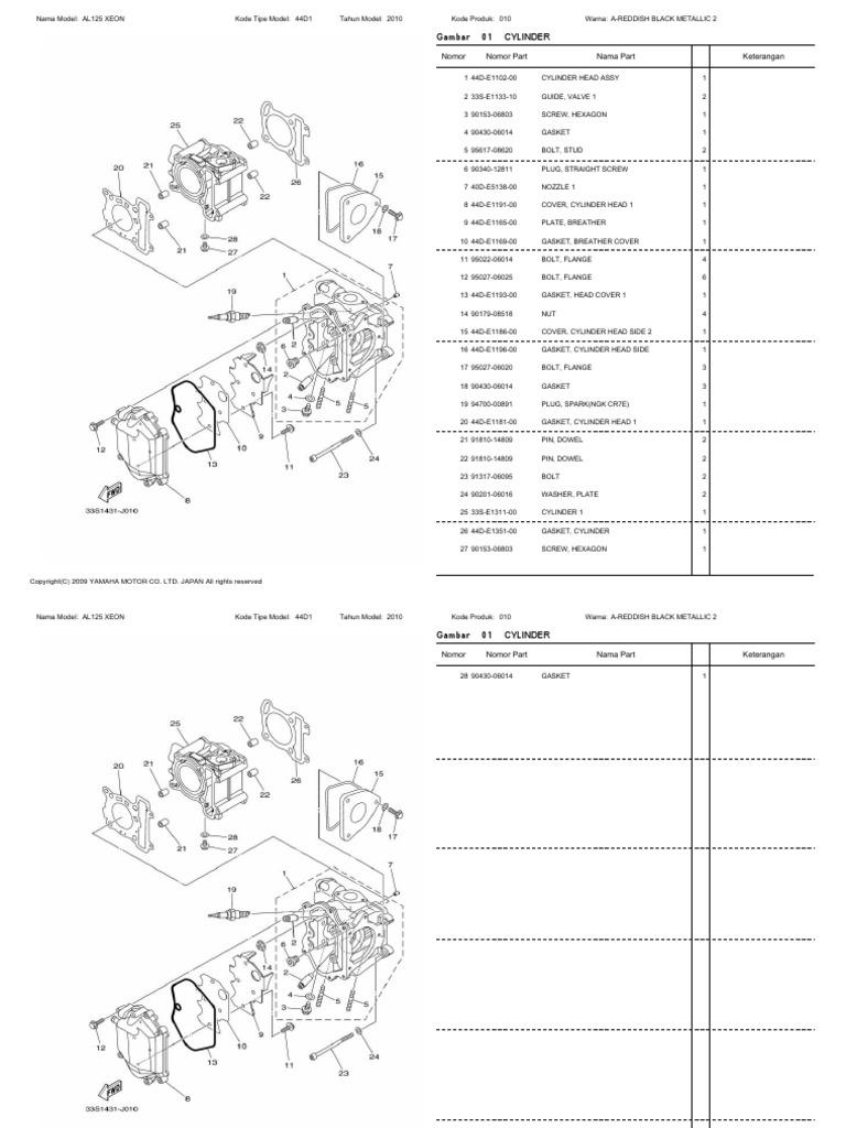 Yamaha ego lc xeon mio manual