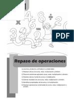 Matematica 5to - Unidad 1 - Repaso de Operaciones