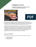 Modulation techniques overview,combiner rf coupler.docx