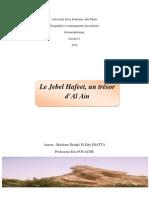 Rapport Jebel Hafeet Melle DIATTA