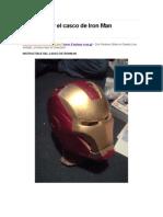 Como Hacer El Casco de Iron Man