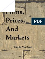 Timothy v Zandt - Firms, Prices and Market 2012