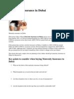 Maternity Insurance in Dubai