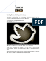Tackling Online Hate Speech in Kenya