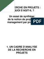 La Recherche en Management de ProjetLa recherche en management de projet.pdf