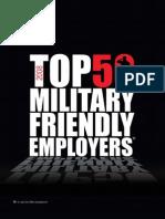 Military Friendly Employers from Resumebear.com