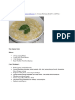 Resep Sup Jagung Keju