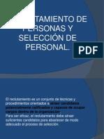 RECLUTAMIENTO DE PERSONAS Y SELECCIÓN DE PERSONAL