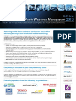 Field Service & Mobile Workforce Management 2013