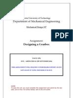 Gear Box Design Assignment S2 2012
