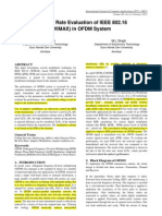 Bit Error Rate Evaluation of IEEE 802.16 in OFDM System