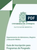 Convocatoria Posgrado Medicina Udea 2013