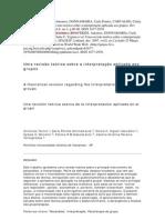 Uma revisão teórica sobre a interpretação aplicada aos grupos TERZIS