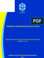 Pedoman Akreditasi Majalah Ilmiah 2011