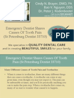 Emergency Dentist Shares Causes of Tooth Pain (St Petersburg Dentist 33710)