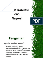 b Analisis Korelasi Dan Regresi