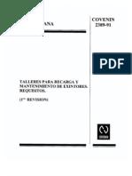 Talleres Para Mantenimiento de Extintores COVENIN 2389-91