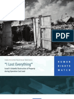 'I Lost Everything'. Israel's Unlawful Destruction of Property during Operation Cast Lead . Human Right Watch 2010
