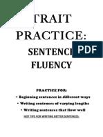 TRAIT Practice - Sentence Fluency