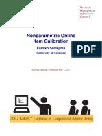 NONPARAMETRIC Online Item Calibration