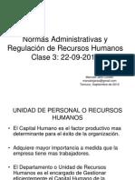 Clase 3 Normas Admin. y RRHH