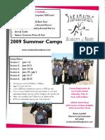2009 Summer Camp Flyer