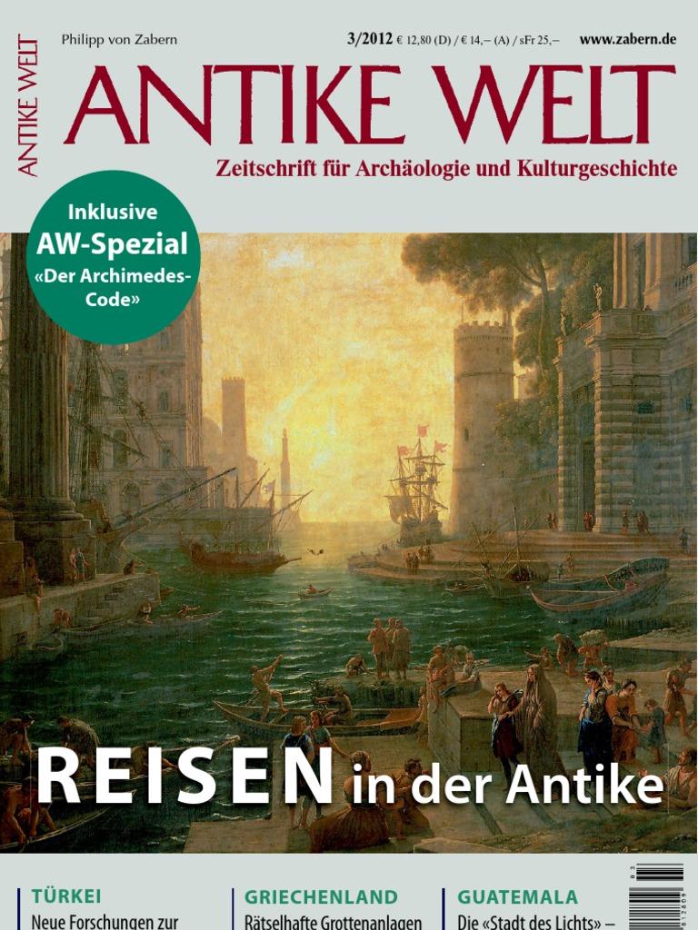 Antike Welt Zeitschrift F R Arch Ologie Vund
