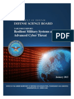 Resilient Military Systems and Advanced Cyber Threat