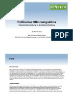 Sonntagsfrage - Wahlumfrage Salzburg von IGF (08.02.2013)