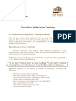 The Role of Reflection in Teaching