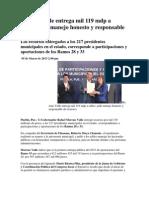 05-03-2013 Puebla noticias  - Moreno Valle entrega mil 119 mdp a ediles.pdf
